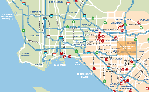 Anaheim Regional Map