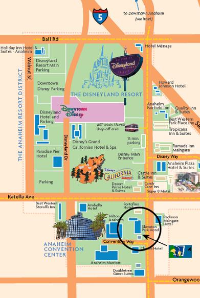 Disneyland map...